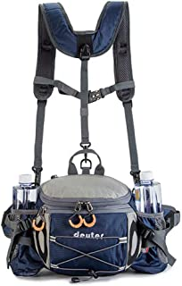 Bauchtasche, Hüfttasche mit Wasserflaschenhalter für Männer und Frauen, Outdoor, Walking, Laufen – ultraleicht, schlanker ...