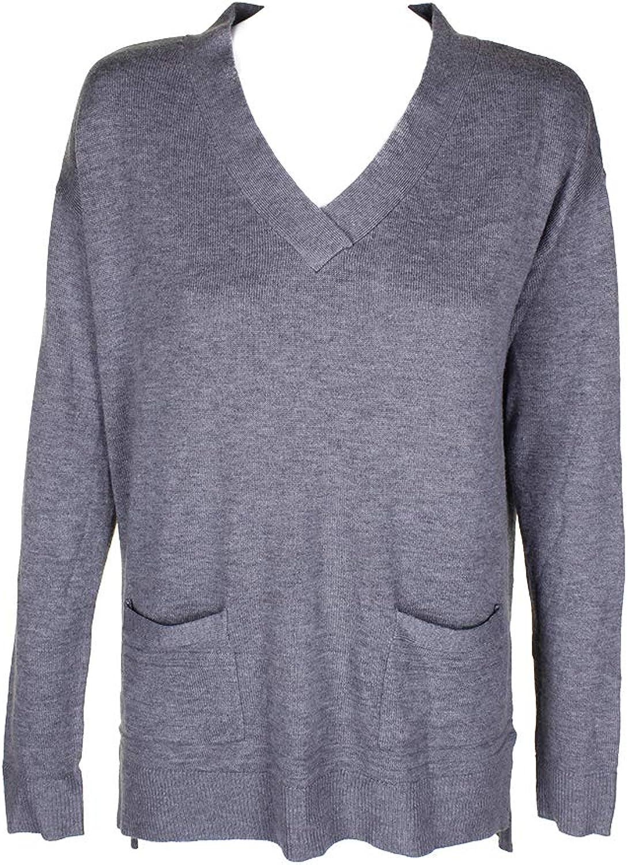 Maison Jules Womens Winter Soft VNeck Sweater