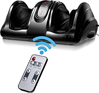 Giantex Foot Massager Machine Massage for Feet, Chronic Nerve Pain Therapy Spa Gift Deep Kneading Rolling Massage for Leg Calf Ankle, Electric Shiatsu Foot Massager w/Remote, Black