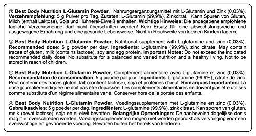 Best Body Nutrition Aminosäuren – L-Glutamin Pulver, 250 g Dose - 2