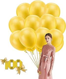 Ballons de latex, 100 pièces 12 pouces anniversaire ballons ballons de fête ballons de mariage et 2 Rubans, pour mariage f...