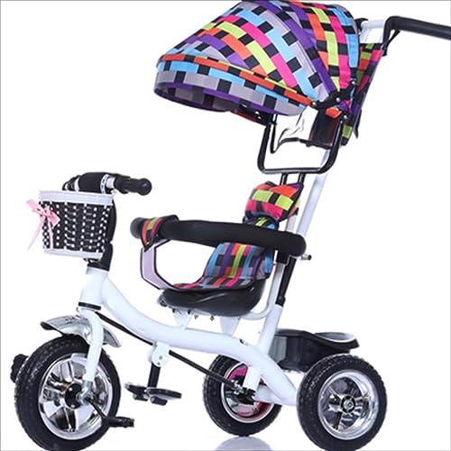 bienvenido a comprar Strollers DD Bicicleta de bebé bebé bebé Bicicleta Infantil de 8 Meses en Bicicleta - 6 años, con toldo, neumático de Goma Completo Triciclo Bebe  venta caliente