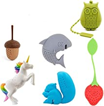 Cute Animal Silicone Tea Filters Tea Infuser-Unicorn Shark Squirrel Cat Owl Elephant Tea Strainer Steeper-Ideal Gift for T...