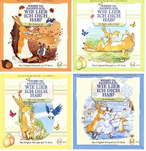 Weißt Du eigentlich, wie lieb ich Dich hab? - Hörspiel / CD 1-4 (der Herbst ist da, ein kleiner gelber Freund, eine Feder für´s Nest, Schneeflocken) im Set - Deutsche Originalware [4 CDs]