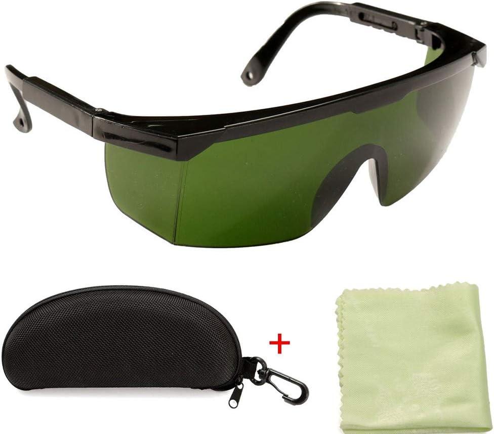 Gafas de Protección Láser,Meroteen Gafas de Protección Ocular 200nm-2000nm Gafas de Seguridad Láser OD4 + Gafas Protectoras con Estilo para Depiladora IPl Grabador Láser