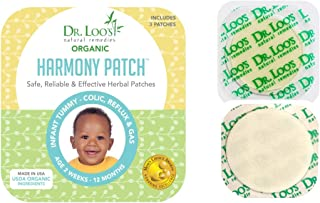 Dr. Loo's NATURAL REMEDIES Organic Herbal Sticker Patches for Colic, Reflux, Gas and Constipation for Infants 2 weeks-12 Months, 9 Patches