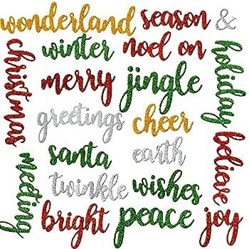 21 Pieces Holiday Words Thinlits Die Christmas Word Embossing Metal Cutting Dies Carbon Steel Embossing Die Cuts Christmas Words Cut Die Stencils for DIY Scrapbooking Card Crafts Stylish Style