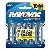 Rayovac AA Alkaline Batteries, 815-6F, 6-Pack