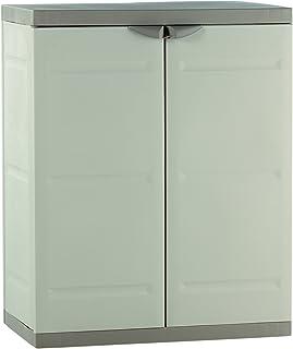 Plastiken M282968 - Medio Armario de Resina 2 Puertas plastek 88 x 70 x 44 cm