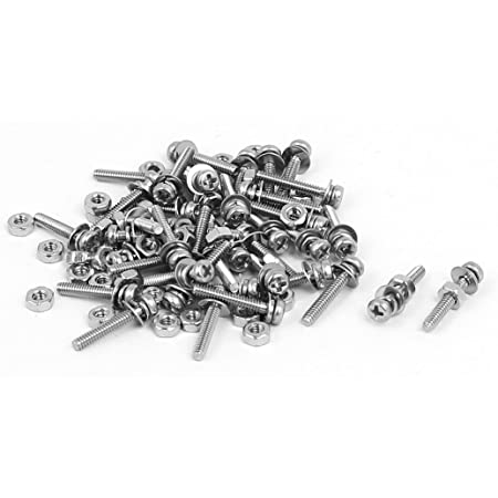 Yosoo Health Gear 600pcs 12 Kinds of Mini Bolts and Nut Sets M1 M1.2 M1.4 M1.6 Small Metric Bolt Set for Watches Glasses Electronics