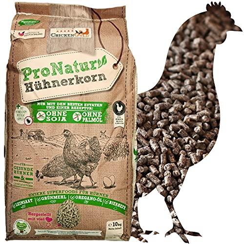 ChickenGold ProNatur-Hühnerkorn 10kg - Hühnerfutter Pellets - Bio Legekorn Biofutter - sojafrei
