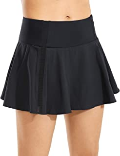 CRZ YOGA Women's Active Sport Skirted Shorts Pleated Tennis Golf Skirt with Pockets