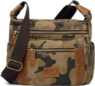 Kemy's Canvas Crossbody Bags for Travel, Unisex, Medium