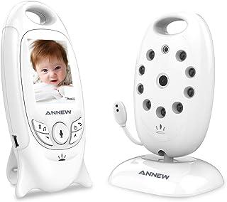 ANNEW Vigilabebés Bebé Monitor Vídeo Cámara de Bebé Temperatura Visión nocturna Canción de cuna Conversación Bidireccional (VB601-EU)