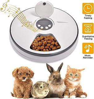 Lacyie Comedero Automático para Perros y Gatos, Dispensador