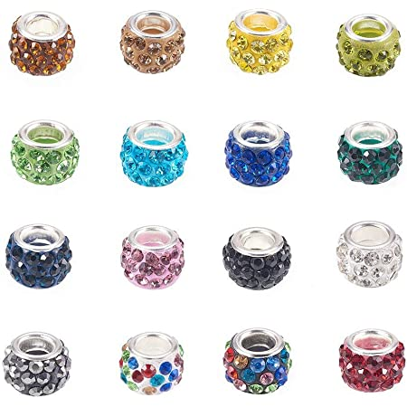 100x Wooden Beads Large Hole Fit European Charms DIY Bracelet Necklace 10mm