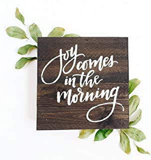 123RoyWarner Joy Comes in The Morning Miniature Wooden Box Sign