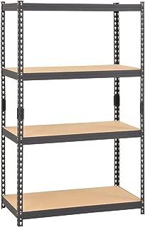 Edsal CR364P-GY Steel Boltless Rivet Particle Board Shelving, 4 Shelves, 60