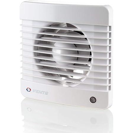 Évents 100125070Mth K 100mm silencieux d'une salle de bain ventilateur d'extraction d'air avec détecteur d'humidité Minuteur–Blanc brillant