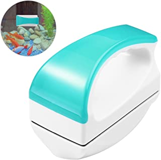 Petacc 水槽磁力ブラシ 水族館グラス用ブラシ 水槽コケ取り 水槽 掃除 ガラスクリーナー 金魚鉢クリーン コケ取り 水槽表面汚れ 水槽内廃棄物掃除可能 強力清潔