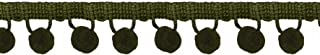 Simplicity 25 mm Ball Fringe Trim and Embellishments, Green