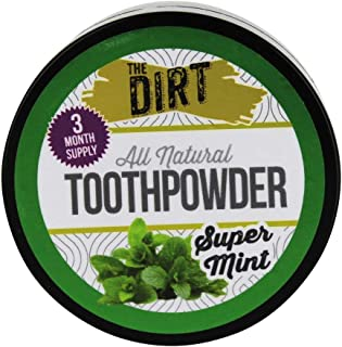 The Dirt All Natural Tooth Powders (Super Mint, Three Month Supply 25g)