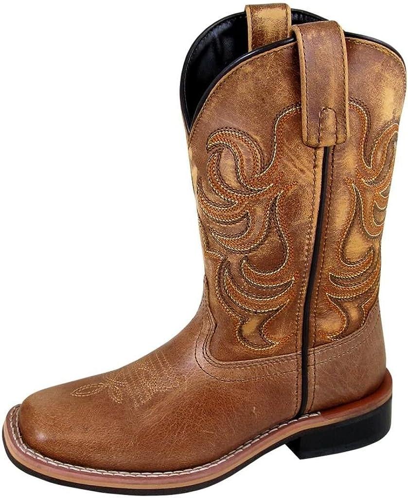 Smoky Mountain Western Boots Boys Leroy Square Toe 1 Child Tan 3723