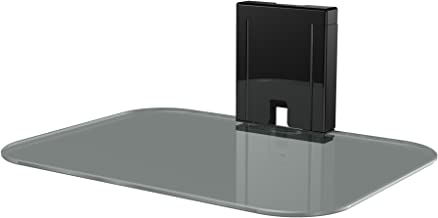 Sanus Tempered Glass On-Wall AV Shelf for Streaming Devices, Game Consoles, and Cable Boxes - SOA-AVS1