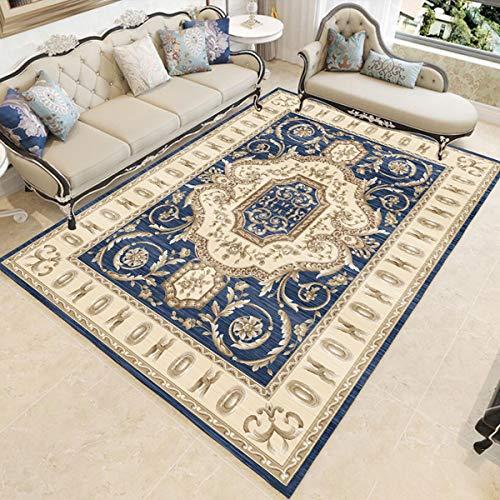 Liyanjin Tapijt, Home laagpolig tapijt goedkoop onderhoudsvriendelijk Versace-patroon Oriënt-look verkrijgbaar in diverse kleuren en maten