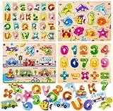 Puzzles de Madera juguetes,Puzzle de Madera, puzzles madera 2 años, Rompecabezas madera, Juguetes Rompecabezas de Madera, Pizarra Magnética Rompecabezas Madera, Puzzles de Madera Magnético (A)