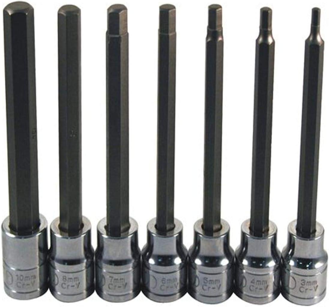 ATD Tools At the price of surprise 13787 Extra Long 7-Piece Hex Set Socket Metric Bit Popular