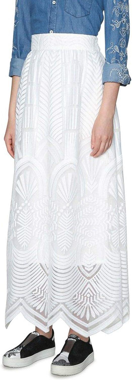 Desigual Women's 18SWFW29WHITE White Polyester Skirt