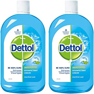 Dettol Disinfectant Liquid (Menthol Cool) - 500 ml (Pack of 2)