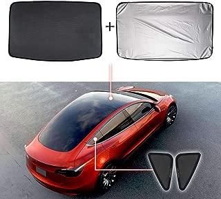 Mixsuper Mesh Car Window Sun Shades,Car Sunroof UV Rays Protection Window Shade for Tesla Model 3