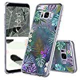 Galaxy S8 Plus Case, Galaxy S8 Plus Clear Case, MOSNOVO Tropical Palm Tree Leaves Clear Design Printed Transparent Plastic Case with TPU Bumper Case Cover for Samsung Galaxy S8 Plus (2017)
