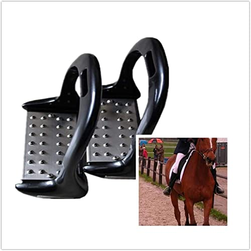 Amyove 1 Paire étriers d'équitation étriers équestres Anti-dérapant en Acier Inoxydable Fournitures équestres