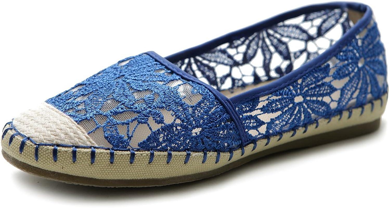 Ollio Women's Ballet shoes Breathable Floral Lace Flat