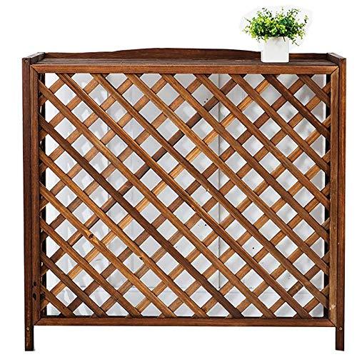 YINxy - Rejilla de madera para aire acondicionado al aire libre, rejilla de aire acondicionado, cubierta exterior para almacenamiento de flores, estante para plantas y radiador