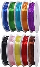 KINDPMA 10Pcs Hilo Elastico paraPulseras BeadingThreads Carrete Hilo de Nylon para Manualidades de Joyería de Abalorios Decoracion Costura 0.8mm x 8m Hilo Elástico Colores