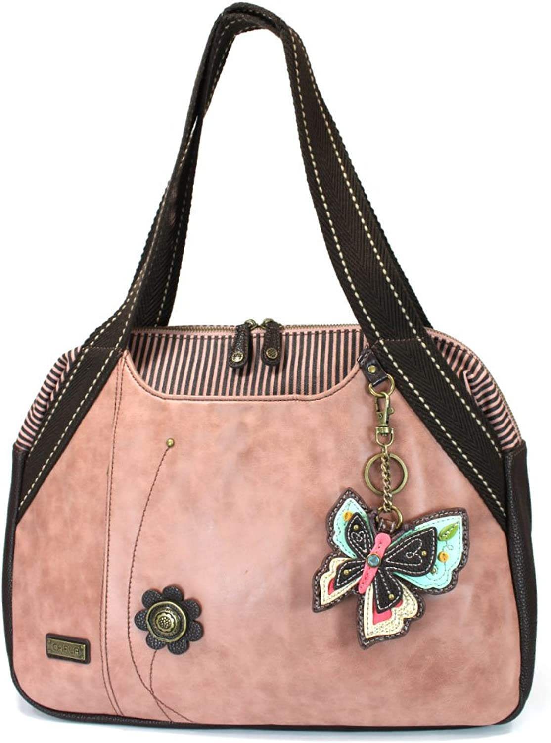 Chala  Bowling Bag, (Dusty pink) Butterfly (835NB8)