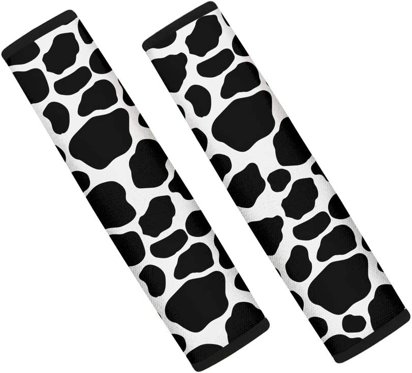 UZZUHI Seat Belt Covers Cow Print Fort Worth Mall Strap Pack 2 Universal Today's only Cushion
