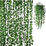 IMIKEYA 18 Stück Künstliche Efeugirlanden Efeu Hängend Girlande Ivy Leaves Kunstpflanze für...