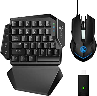 GameSir Keyboard Mouse Combo for PS4 Xbox One Nintendo Switch PC Game Console, Upgraded VX Aimswitch Controller Adapter for Console