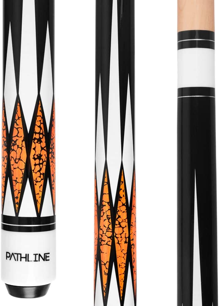 Pathline Pool Cue Stick 58 inch Canadian Maple Professional Billiard Pool Stick 4 Colors, 18oz, 19oz, 20oz, 21oz