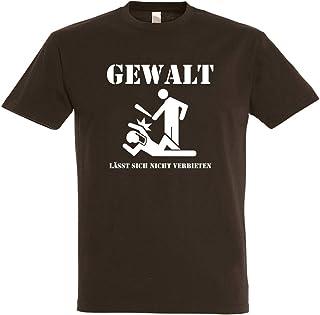 Herren T-Shirt Gewalt lässt Sich Nicht verbieten S bis 5XL