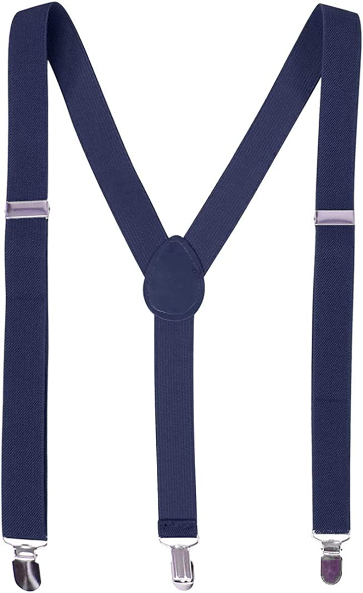 TeeYee Unisex Suspenders Clip on Adjustable Elastic Y Back BG0002