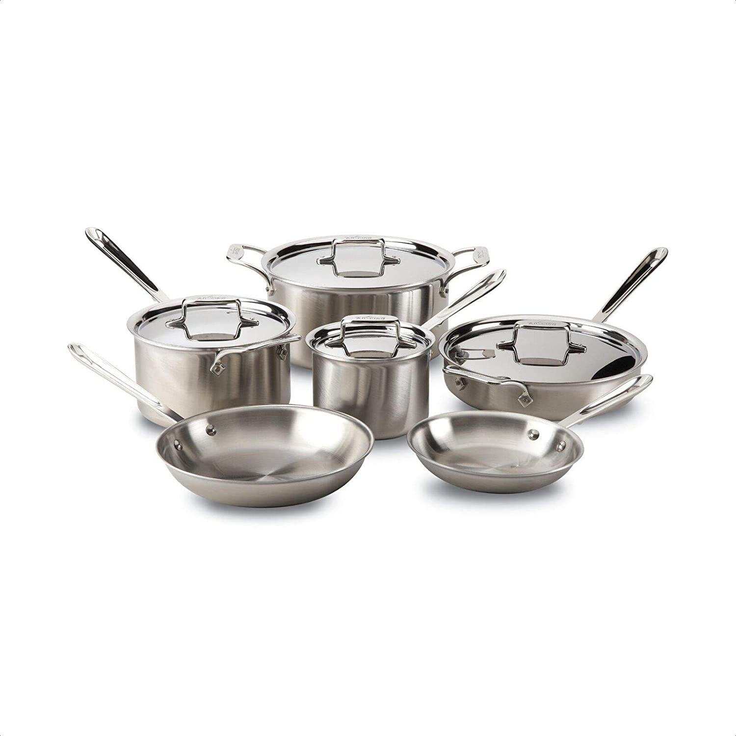 Brushed 10 Piece Aluminum Stick Manufacturer direct delivery Non Set Cookware cheap