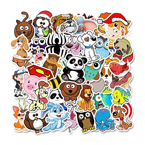 ZXIAQI Cute Stickers, 50 Pcs Viny Waterproof Stickers for Children Adult On The Laptop Fridge Phone Skateboard Suitcase Sticker,animal
