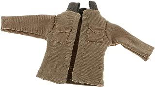SM SunniMix Cool Miniature Jacket Coat Khaki for 1:12 Dollhouse or Doll Bedroom Life Scenes Decor