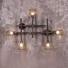 مصابيح حائط لتزيين الحائط، مصابيح جدارية قديمة الطراز/ الفكرة والمقاهي والمطاعم وغرف المعيشة ومعدات إضاءة (26 52 13 سم)